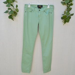 Lucky Brand Charlie Skinny Mint Green Jeans
